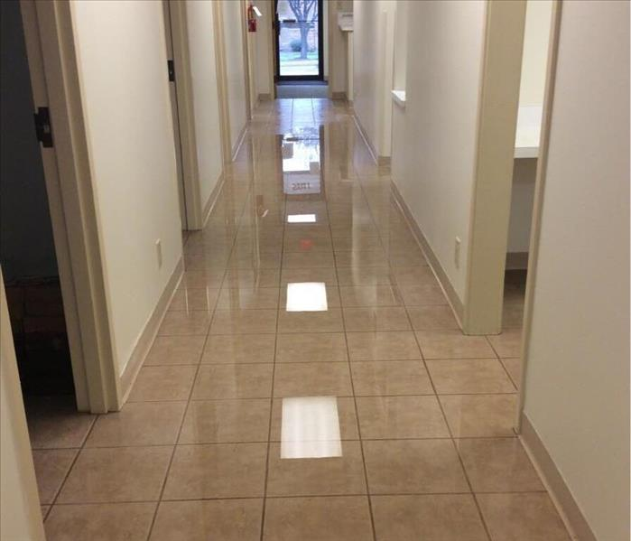 Water Damage in Medical Facility- Mesquite, TX Before