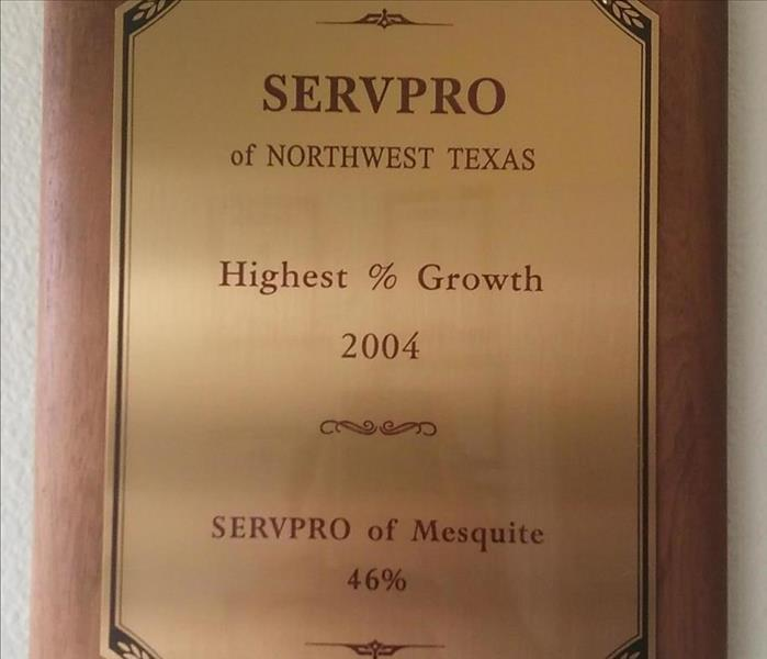 Highest Growth in NW Texas 2004
