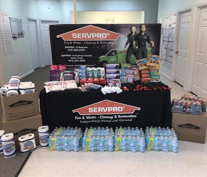 Commercial SERVPRO of Mesquite is now accepting donations for Canton, Esutace, Emory, Caney City and surrounding areas
