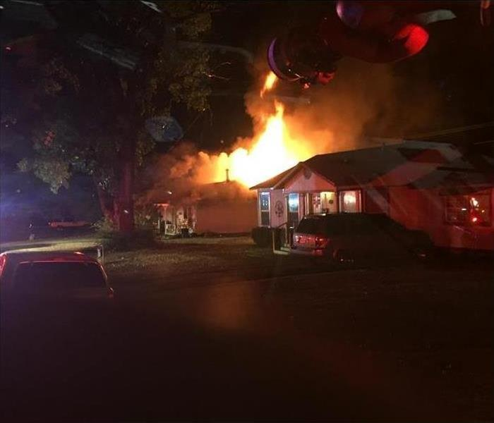 Fire Damage Forney home catches fire in the night